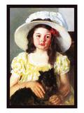 Francoise with a Black Dog Affiches par Mary Cassatt