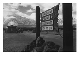 Entrance to Manzanar Poster by Ansel Adams