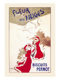 Fleur Des Neiges - Biscuits Pernot Posters by Leonetto Cappiello