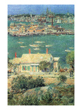 Port of Gloucester Premium Giclee Print by Childe Hassam