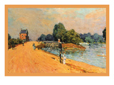The Road at Hampton Court Prints by Alfred Sisley