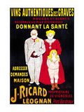 Vins Authentiques Des Graves Prints by Leonetto Cappiello