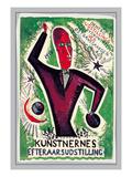 Kunstnernes Efteraarsudstilling Print by Svend Johansen