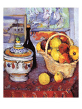 Apples Bottle and Tureen Posters by Paul Cézanne