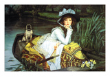 Young Woman Looking in a Boat Poster by James Tissot
