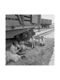 Freight Train Family Posters by Dorothea Lange