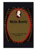 White Beauty Broom Label Posters