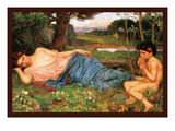 Listing to My Sweet Pipings Art by John William Waterhouse