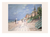 The Boardwalk at Trouville Prints by Claude Monet