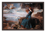 Miranda and the Tempest Premium Giclee Print by John William Waterhouse