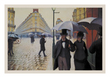 Paris Street; Rainy Day Posters by Gustave Caillebotte
