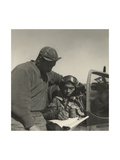 Pilot from the 332nd Fighter Group Signing Form One Book Prints