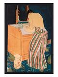 Woman Bathing Poster par Mary Cassatt