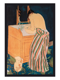Woman Bathing Premium Giclee Print by Mary Cassatt