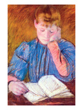 Thoughtful Reader by Cassatt Art by Mary Cassatt