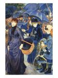 Les Para Pluies Plakater af Pierre-Auguste Renoir