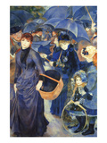 Les Para Pluies Posters tekijänä Pierre-Auguste Renoir