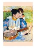 De banjo les Posters van Mary Cassatt