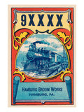 9Xxxx Steam Train Broom Label Posters