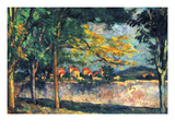 Into the Street Prints by Paul Cézanne