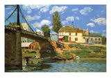 The Bridge at Villeneuve-La-Garenne Prints by Alfred Sisley