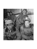 Photograph of Tuskegee Airmen Attending a Briefing in Ramitelli, Italy, March 1945 Prints
