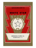 White Star Broom Label Prints