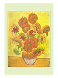 Vase with Fourteen Sunflowers Prints by Vincent van Gogh