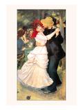Bal a Bougival Kunst af Pierre-Auguste Renoir