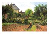The Artist Garden at Eragny Posters af Camille Pissarro