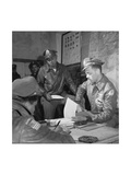 Tuskegee Airmen Woodrow W. Crockett and Edward C. Gleed, Ramitelli, Italy, March 1945 Premium Giclee Print