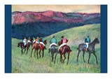 Horse Racing -The Training Premium Giclee Print by Edgar Degas