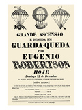 Broadside Announcement of a Balloon Ascension Prints