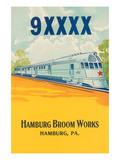 9Xxxx Bullet Train Broom Label Posters