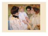 Women Admiring a Child Premium Giclee Print by Mary Cassatt
