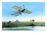 Over the Nile and the Pyramids in a Plane Prints