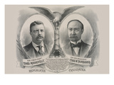 Republican Candidates. for President, Theo. Roosevelt. for Vice President, Chas. W. Fairbanks Posters by  Kurz