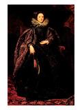 Portrait of Marchesa Balbi Kunstdrucke von Anthony Van Dyck