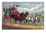 Philadelphia Coach Works Poster by  Currier & Ives
