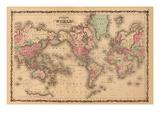 Verdenskort, på engelsk Posters af A.J. Johnson