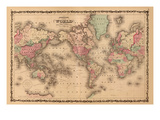 World Map Prints by A.J. Johnson