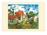 Street in Auvers Print by Vincent van Gogh