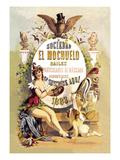 Sociedad El Mochuelo Bailes Poster by D. Eusebio Planas