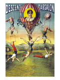 French Balloon Circus Poster Prints