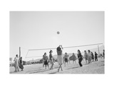 The Volley Ball Game Print by Ansel Adams