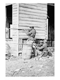 Dutch Gap, Virginia. Picket Station of Colored Troops Near Dutch Gap Canal Premium Giclee Print