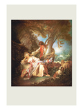 The Sleeping Shepherdess Print by Francois Boucher