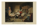 President Lincoln, Writing the Proclamation of Freedom. January 1St, 1863 Premium Giclee Print
