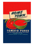 Home Town Brand Tomato Puree Posters