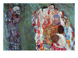 Death and Life Poster van Gustav Klimt